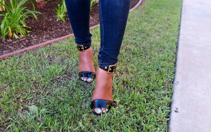 ankle strap heels - guess