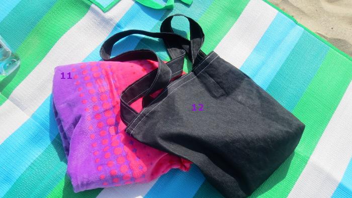 beach bag, beach towels,