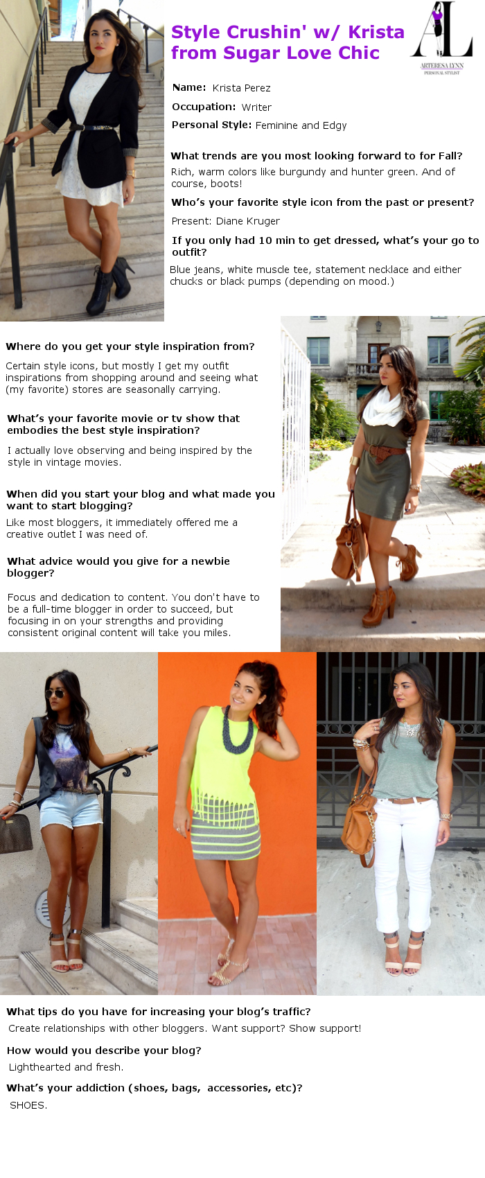 style crush, sugar love chic, krista perez, style interview