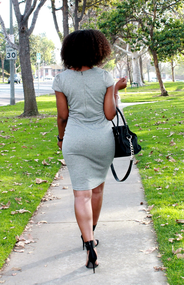 Chevron dress - natural hair- natural hair blogger
