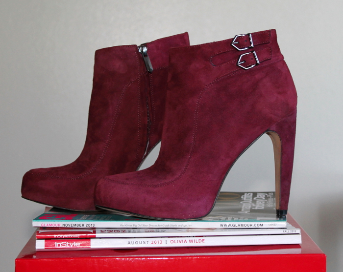 sam edelman, burgundy booties, oxblood booties