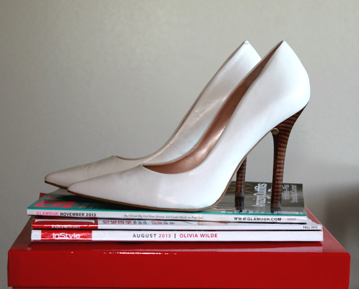 white Guess pumps, classic pumps