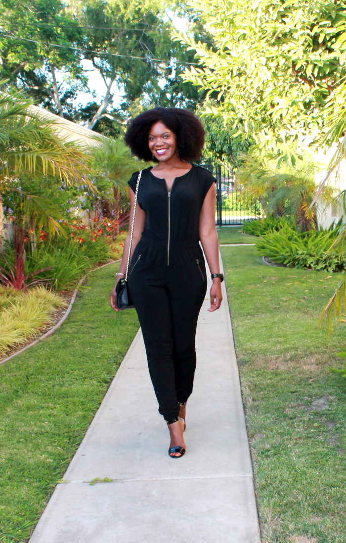 guess black jumpsuit-date night outfit-ootd