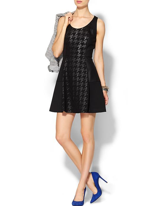 piperlime collection houndstooth fit and flare dress
