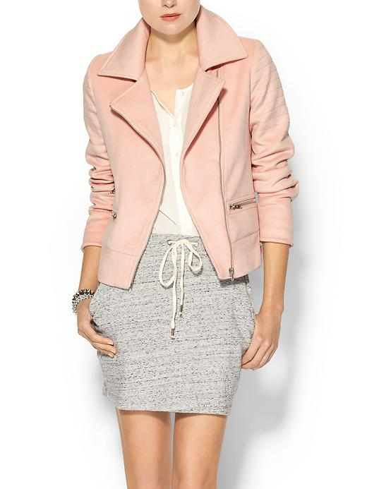 piperlime collection short wool moto jacket pastel pin