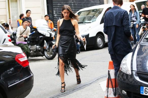 fringe skirt trend