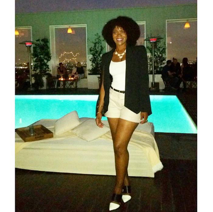 nasty gal cape blazer, blogger babes event, mondrian hotel la skybar