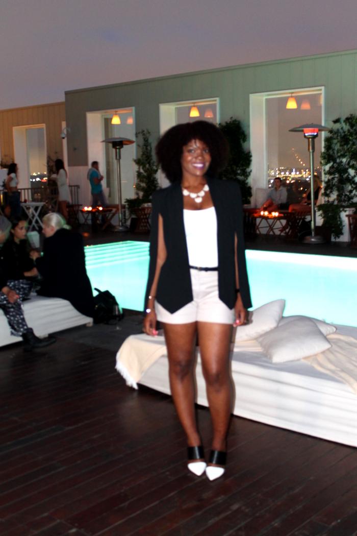 nasty gal cape blazer, blogger babes event, mondrian la skybar