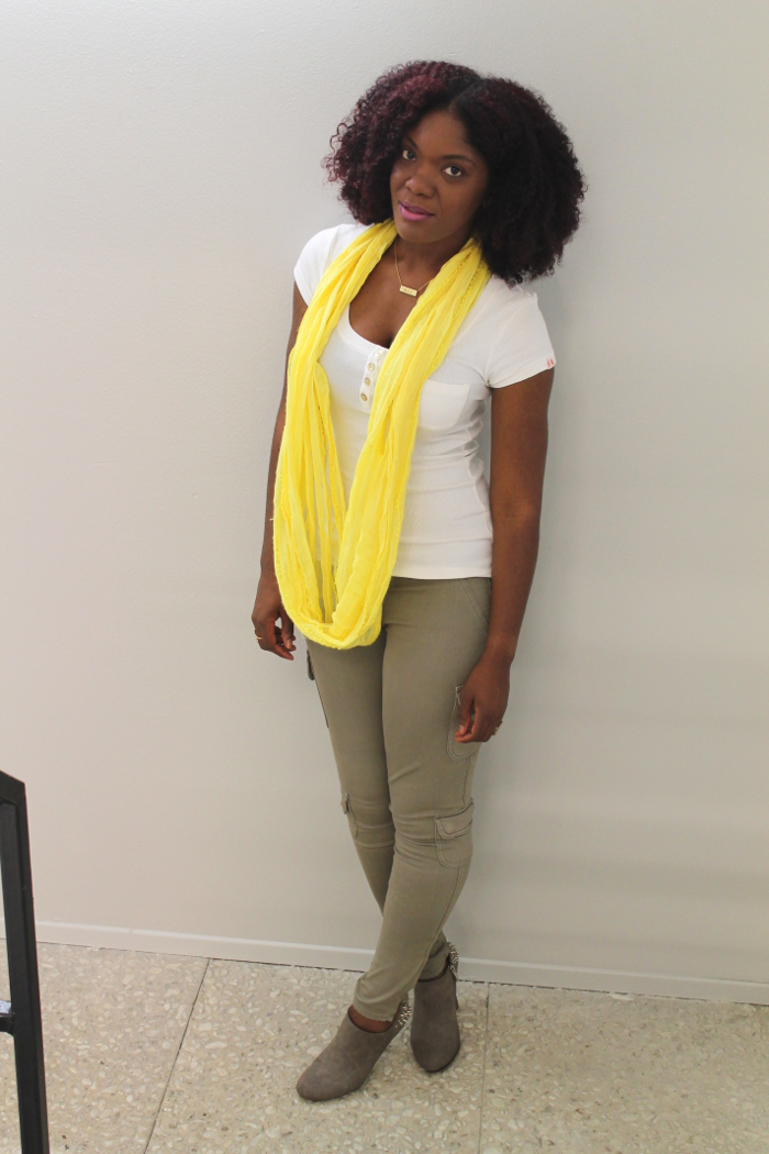 yellow summer scarf