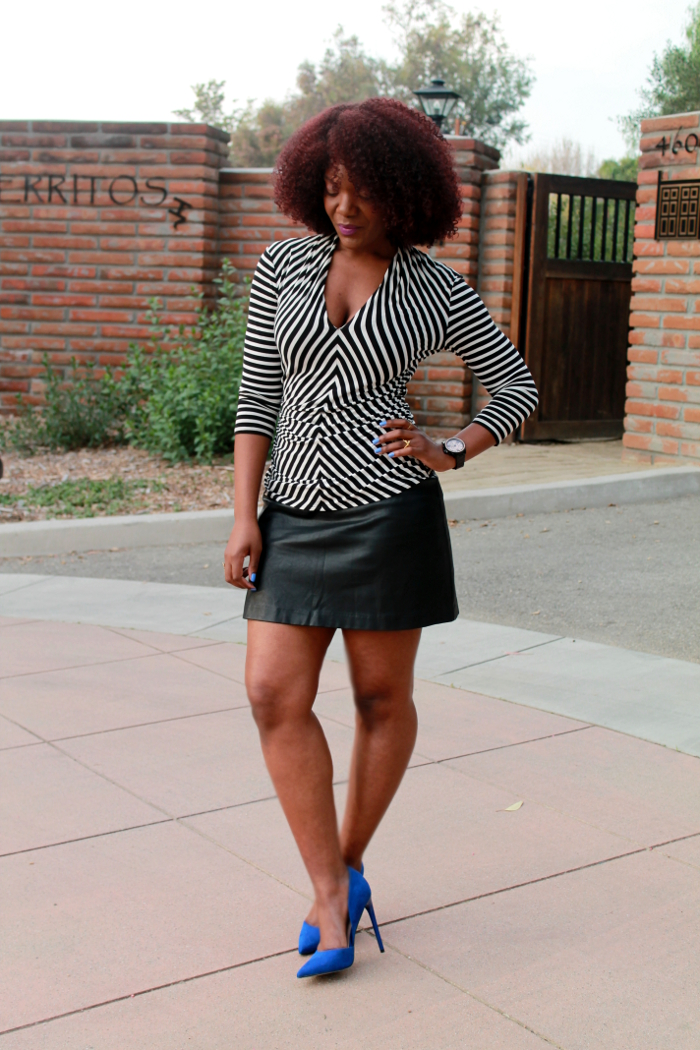 How to wear a leather skirt 6