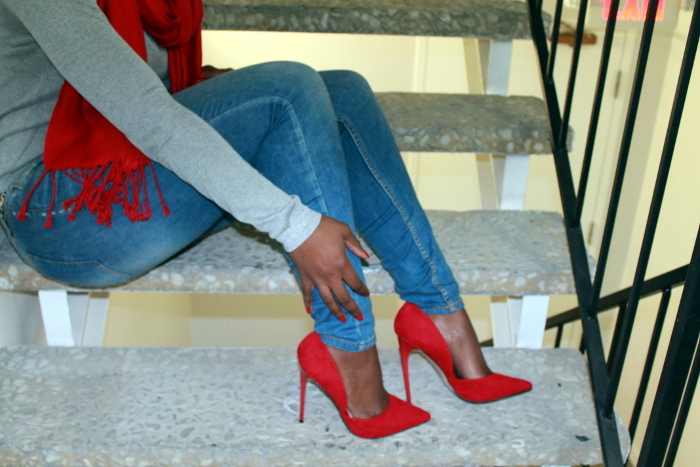 Red pumps by shoedazzle #sotd