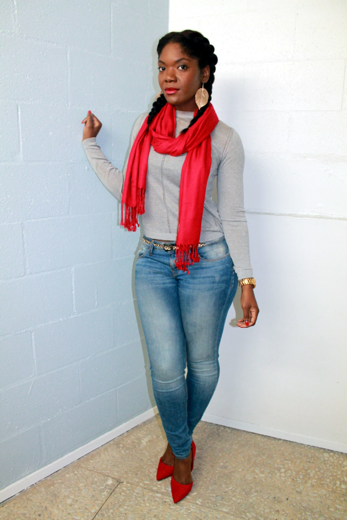 Outfit Of The Day - Blue Jeans & Red Pumps