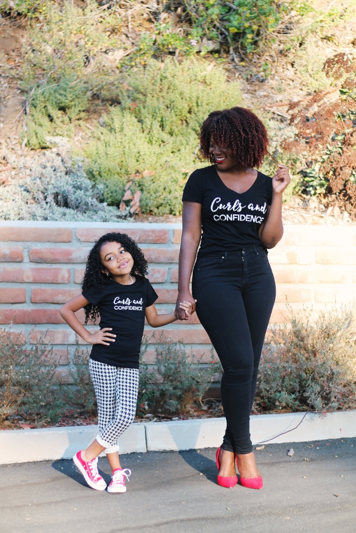 Curls and Confidence Girls and Womens Tee