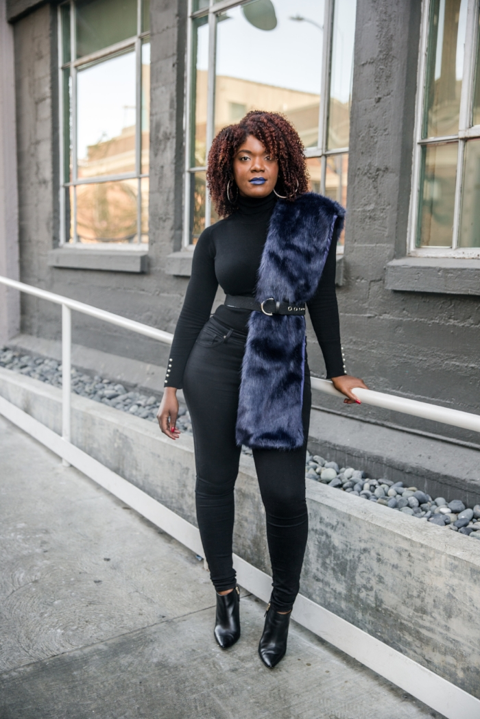 How To Wear A Faux Fur Stole In The Winter