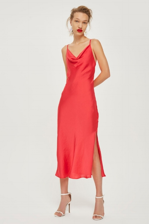 Topshop Cowl Neck Slip Dress