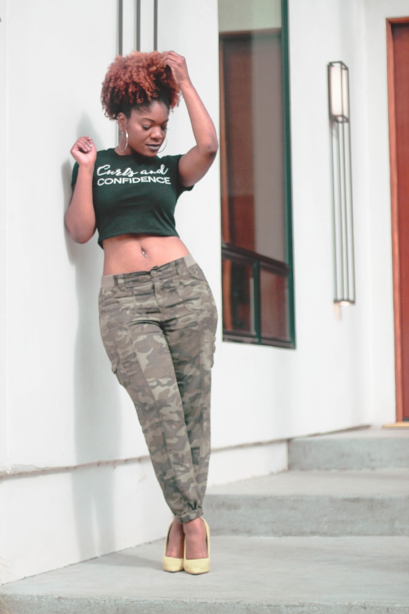 Curls and Confidence Crop Top Outfit