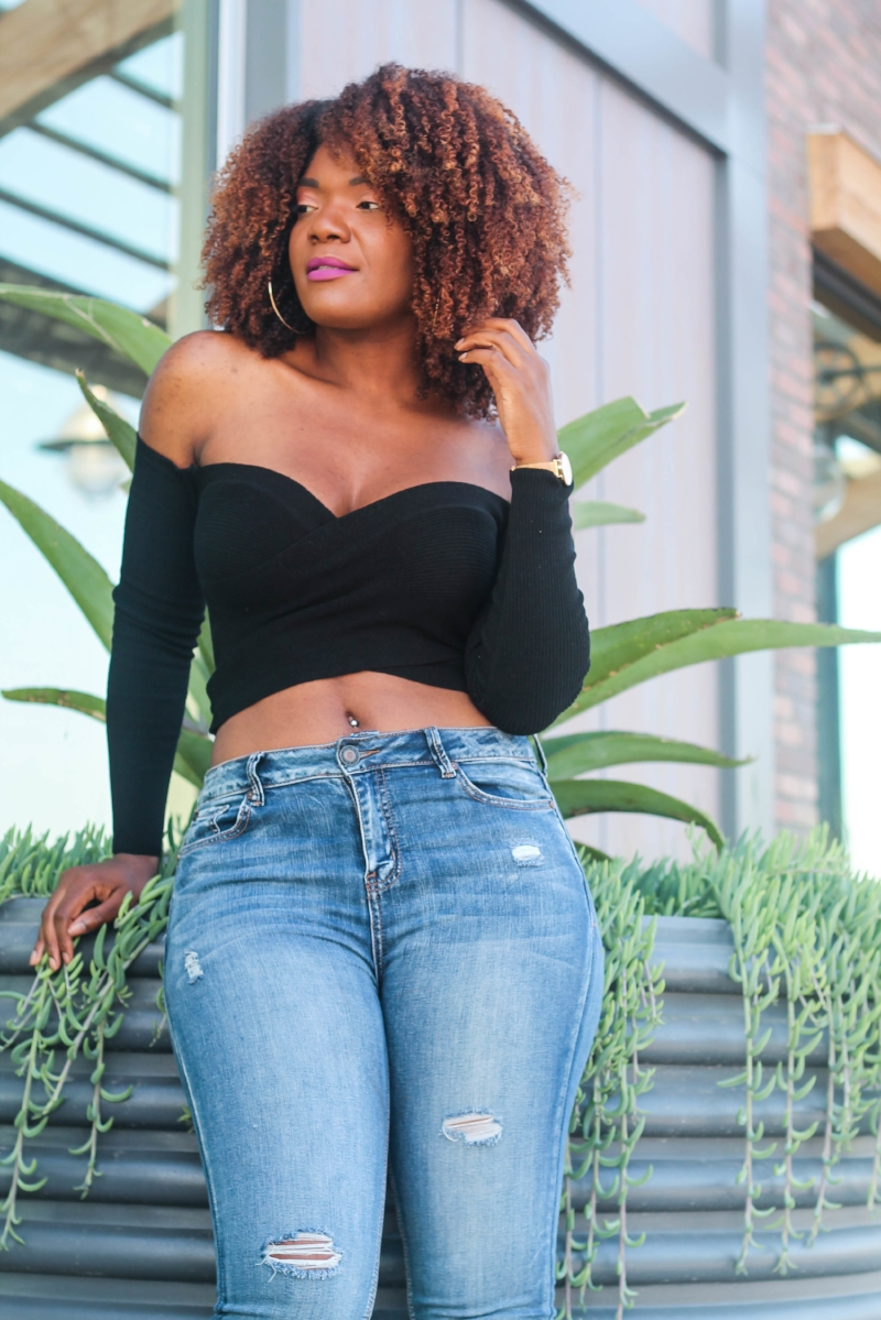 Fashion Nova Jeans And Off Shoulder Top