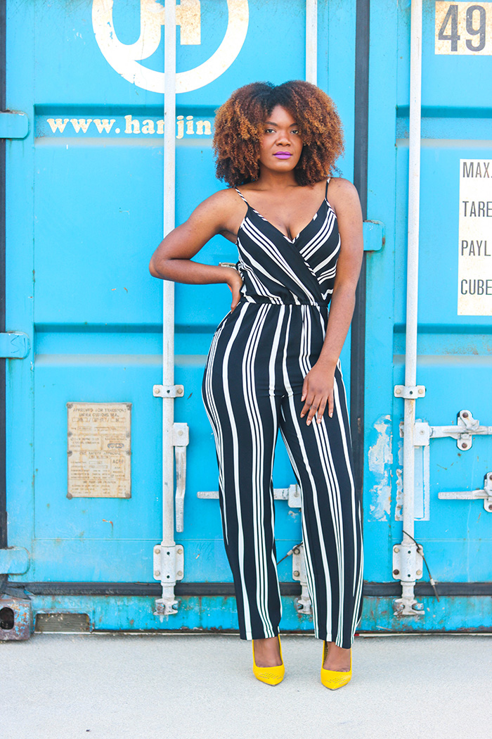 Jumpsuit and Pumps