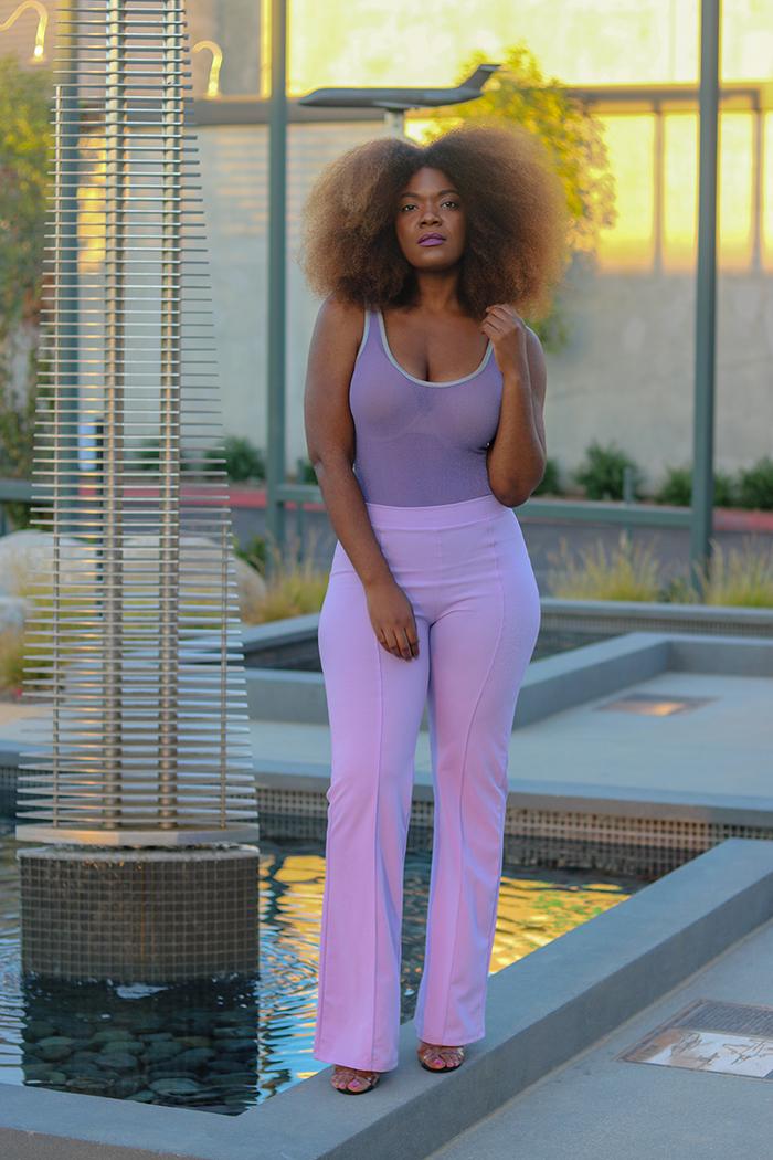 Lavender Bodysuit + Pants