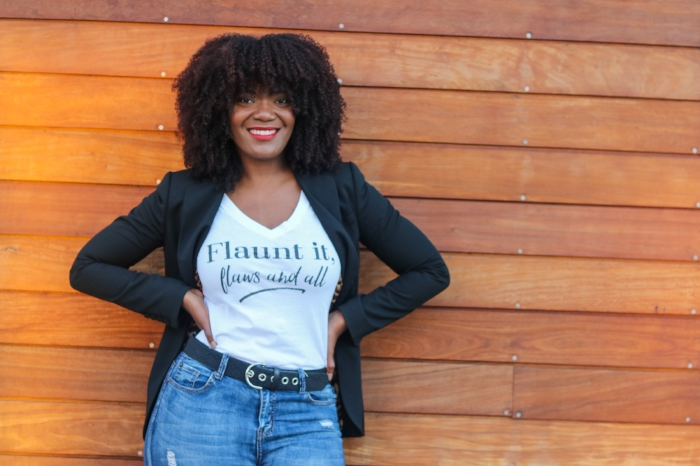 Flaunt It, Flaws And All self love tee