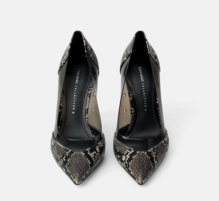 Zara Animal Print High Heeled Shoes