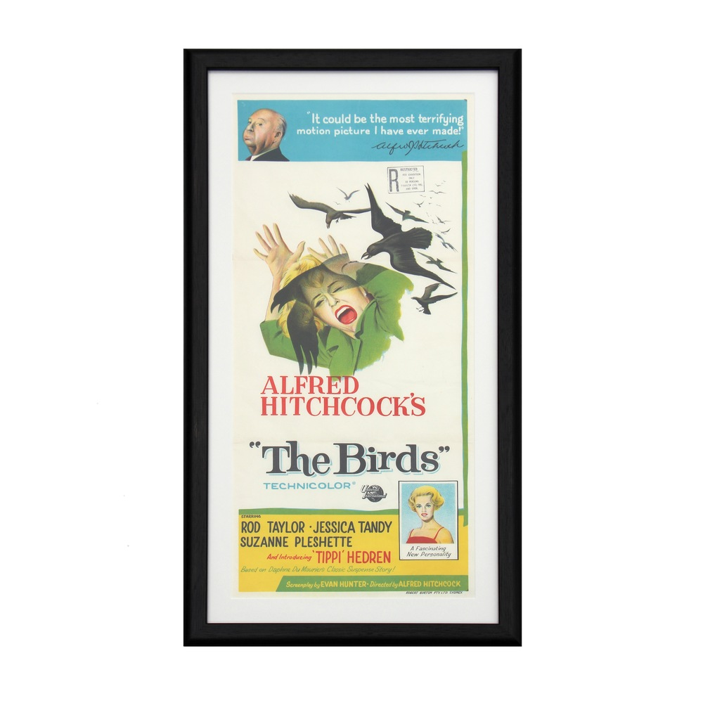 Original film poster for 'The Birds'