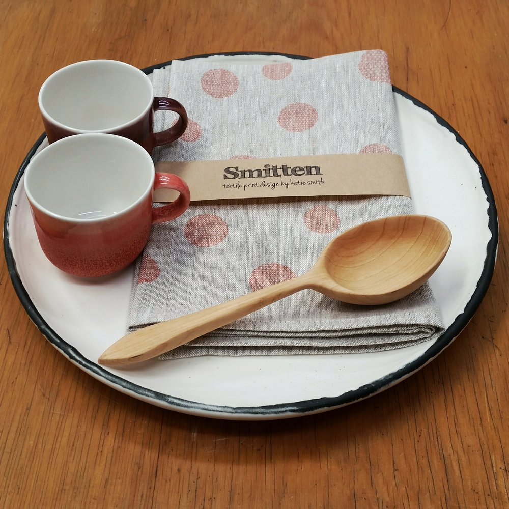 Three Cups of Tea / Smitten / Spoons on Tikitiki / George Sands Studio