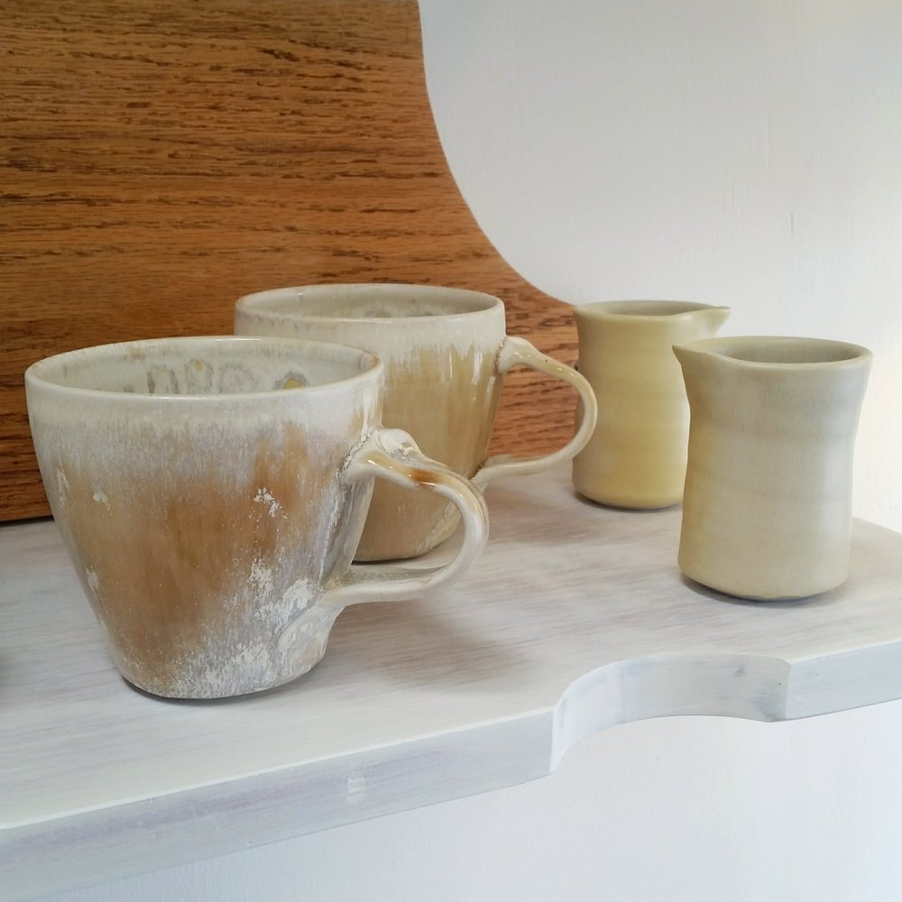 Kim Morgan Pottery - Mugs and small jugs