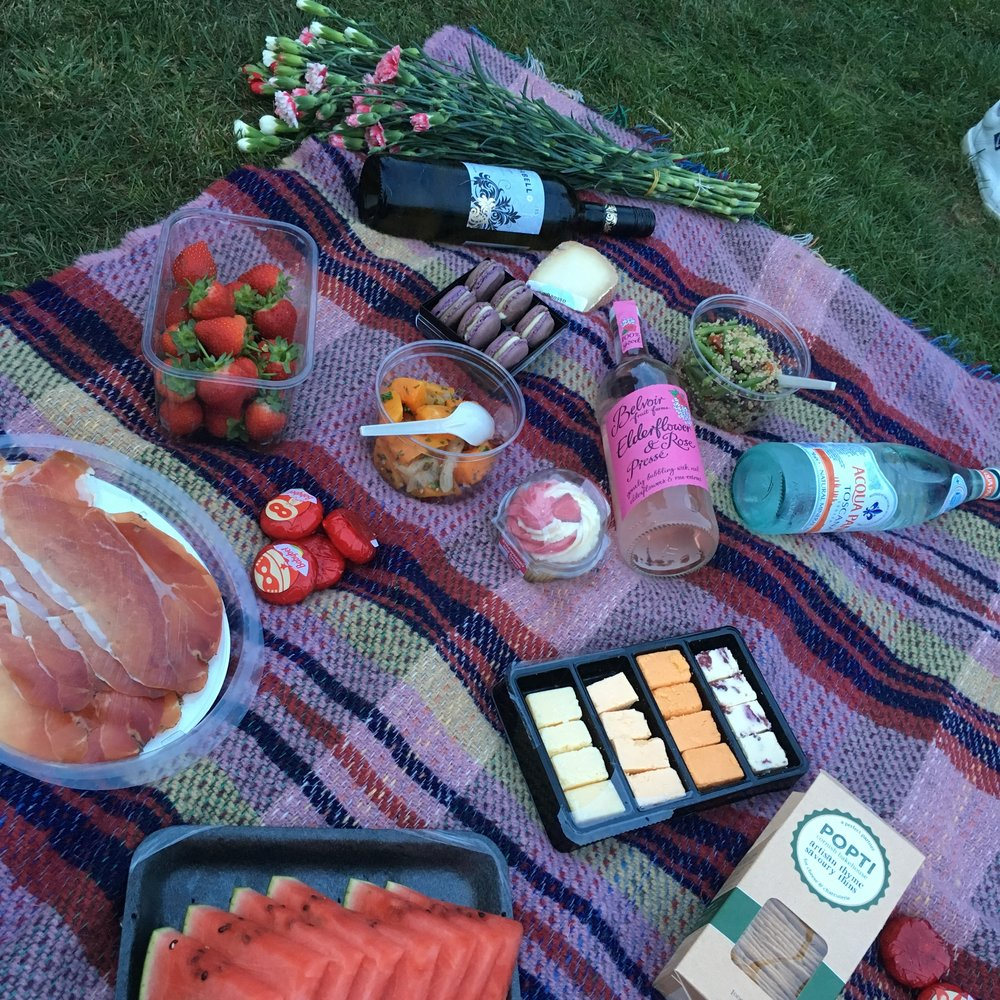 (Items purchased from Whole Foods), Picnic; London, United Kingdom