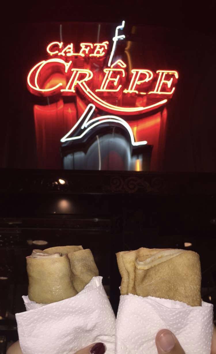 Crepes, Café Crepe;Vancouver, Canada