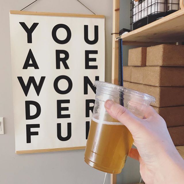 Everyday is a good day for booch and a nice little reminder - You. Are. Wonderful.