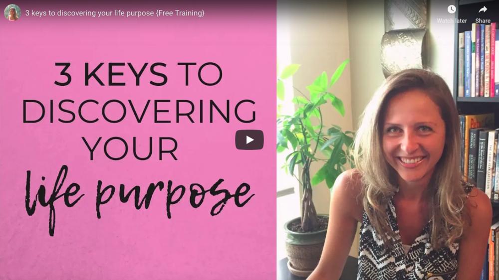 3 keys to life purpose