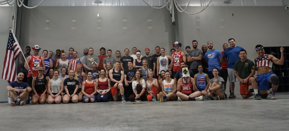 Great turnout for our 4th of July WOD! Our community is growing and it's not all about location. It's about the quality of our community. Thank you for making everyone feel welcome! You're the reason we grow and we can't say thank you enough.
