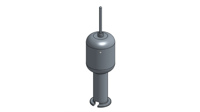 Here's a second buoy concept that features a removable external spool beneath the buoy to allow for a smaller physical footprint. We'll be doing head-to-head testing to see which is more effective for packing, piloting, and overall handling.
