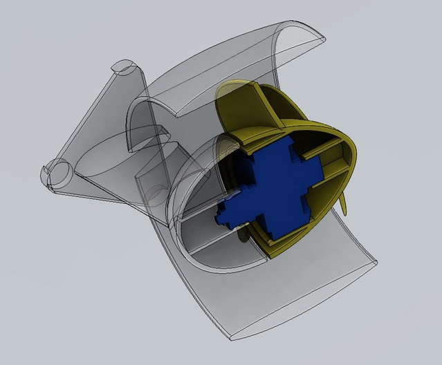 Thruster redesign increases simplicity, while decreasing size