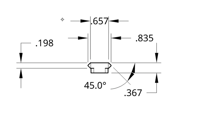 Front view payload attachment rail
