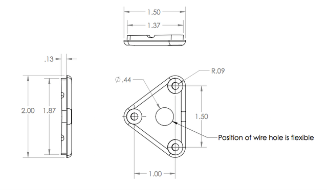 Schematic for rear thruster interface