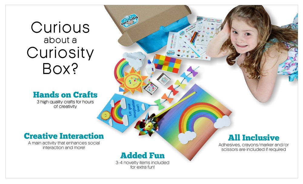 Family Time - Every box is packaged with care and filled with hands on crafts, games, activities, and everything you need to get started!  We understand how busy life can be, we've got you covered.