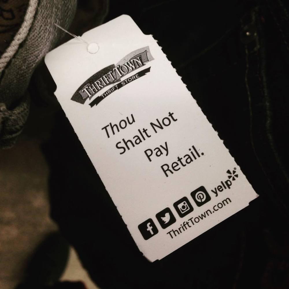 The 11th commandment. #showclothes  (at Thrift Town - El Sobrante #11)