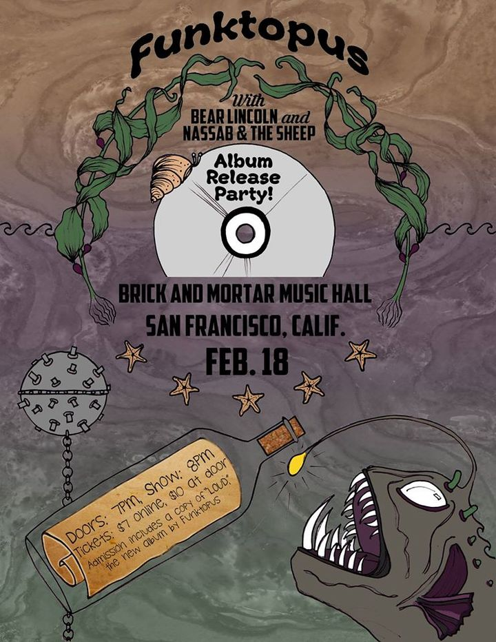 Tomorrow! Bear Lincoln @ Brick & Mortar Music Hall in San Francisco, CA - February 18th