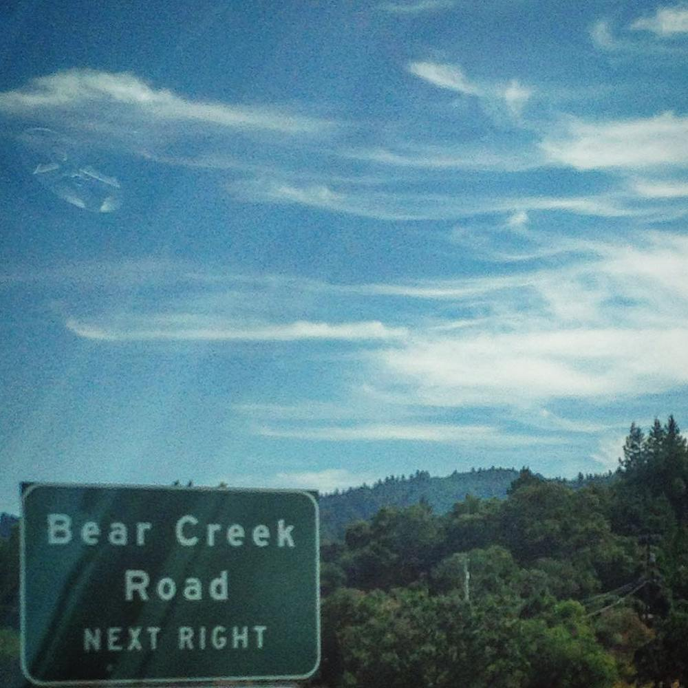 Almost there. Santa Cruz, we'll see you tonight! #donquixotes #denguefever (at Bear Creek Road)
