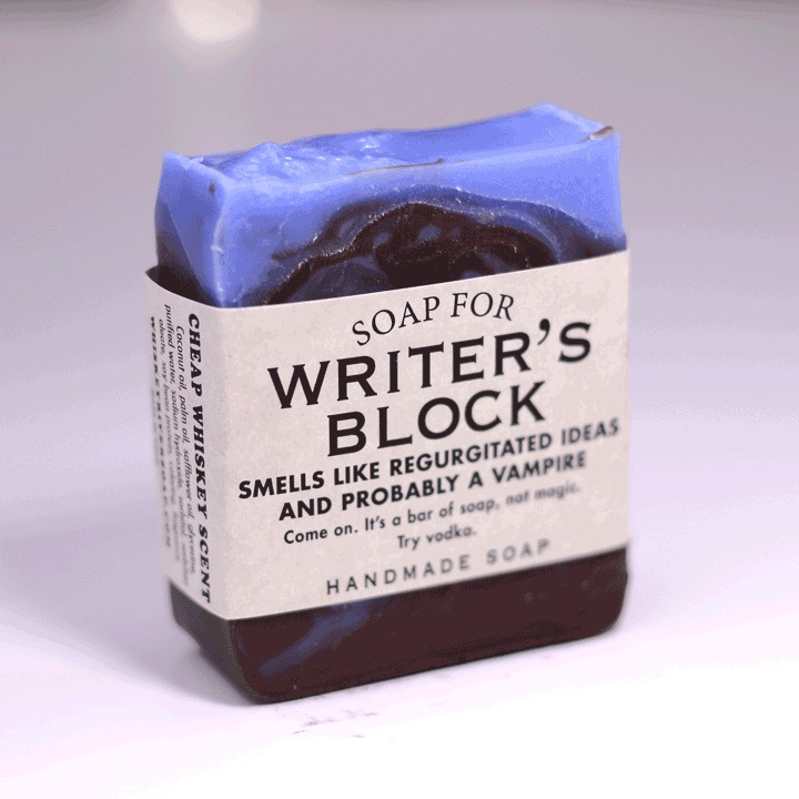 vongeist :      amandaonwriting :   Soap for Writer's Block