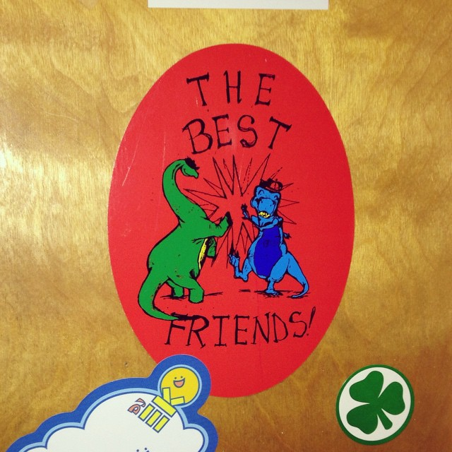 The Best Friends sticker still on display at KZSC! #flashbackweekend #throwbacksaturday (at KZSC Santa Cruz 88.1)