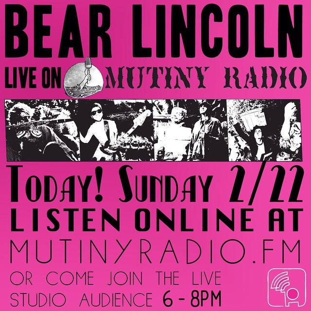 Join us today - either in person or online - as we play live on San Francisco's Mutiny Radio today from 6 to 8 pm!  More info here:  https://www.facebook.com/events/1393235630985246/