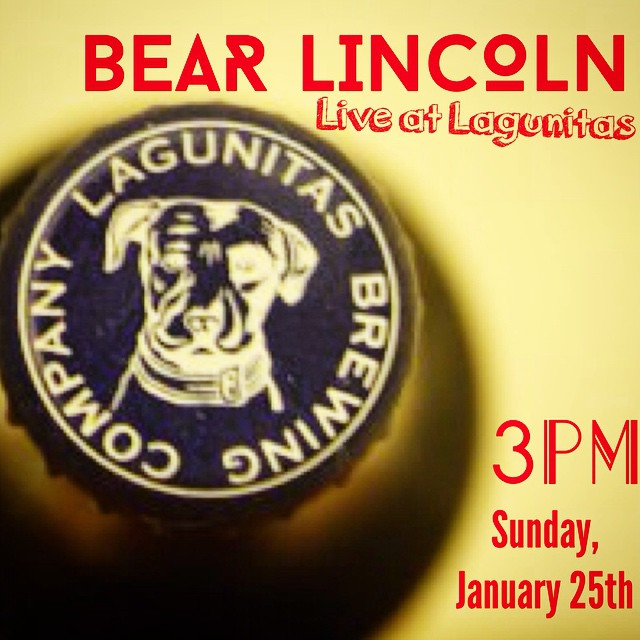 First big announcement of the year- we'll be playing live at @lagunitasbeer in Petaluma on Sunday January 25th at 3pm. North Bay, come on out!