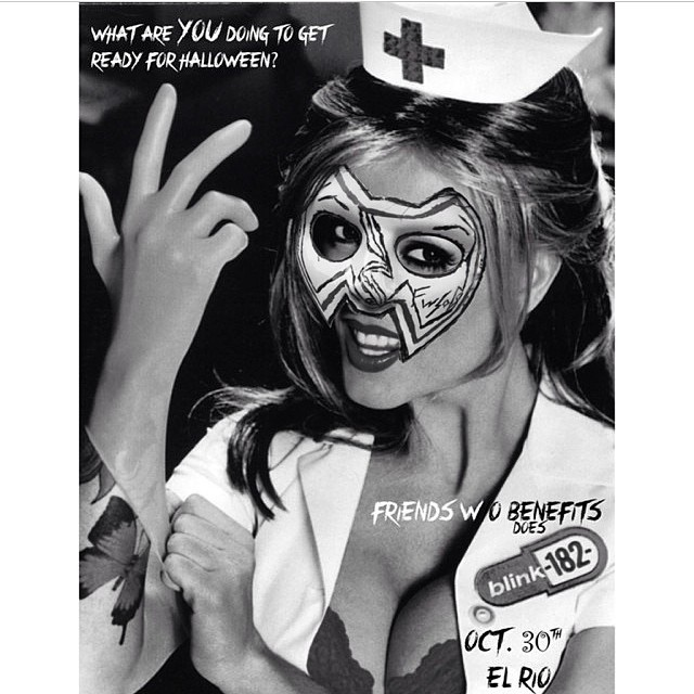 Friends W/O Benefits invite you to 'Smell the Glove' this Halloween. They'll be playing the SF Spook-tacular with us at El Rio on 10/30, performing Blink 182's Enema of The State. Tickets are still available at http://elriohalloween.eventbrite.com/ Yeehaw!