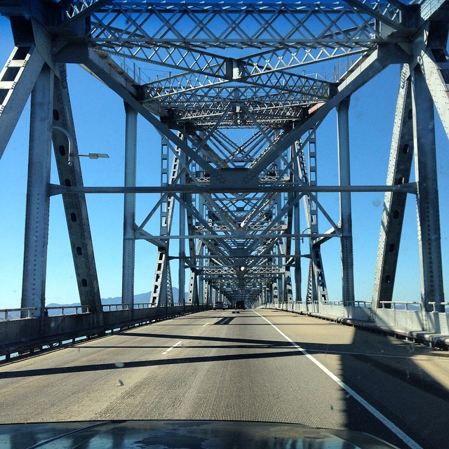 Headed up to Santa Rosa for #granfondo2014 with the wind in our hair and a spring in our step. Bear Lincoln performs the Finley Park stage at 5:30. Here's some bridge we found along the way.