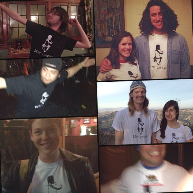 A selection of America's best & brightest wearing Bear Lincoln apparel. Thanks to everyone who has purchased a t-shirt. Get at us if you want one! (at T-Shirt Town USA)