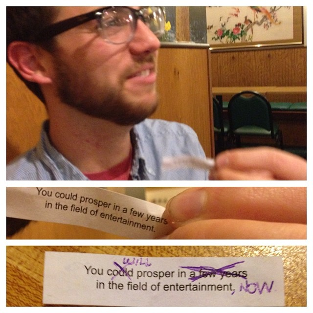 Bear Lincoln Tour Log (Part 1). Derek gets a #fortunecookie, decides to tempt fate.