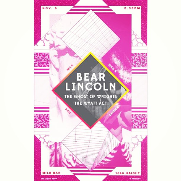 On Wednesday night! Bear Lincoln returns to SF.